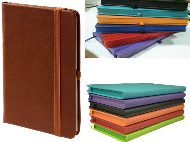 13 x 21 cm Painted Edge Thermo Leather Hardcover Notebook