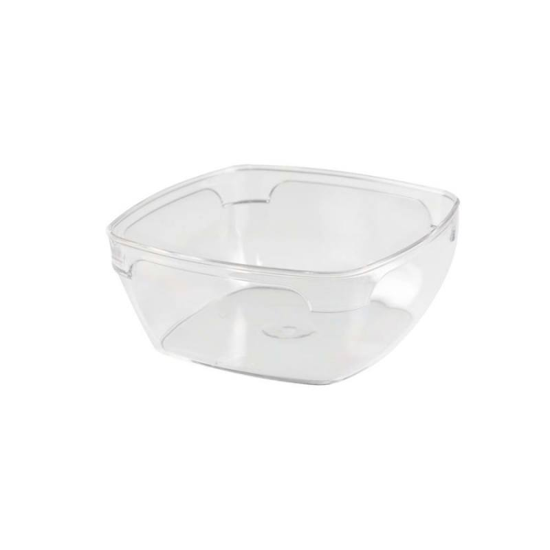 Crystal Square Bowl 300 ml PS - Thick