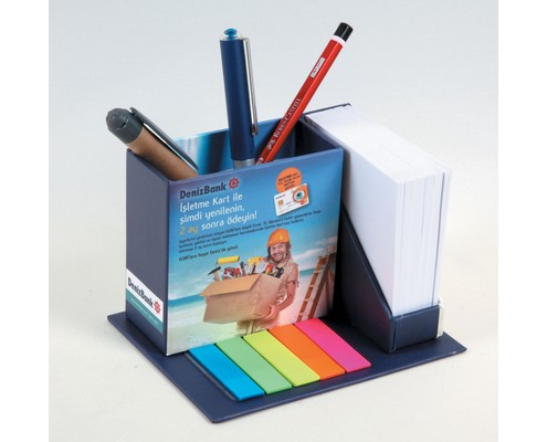 Cube Notepad with Pencil Box and PVC Marker