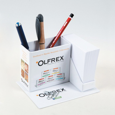Cube Notepad with Pencil Box