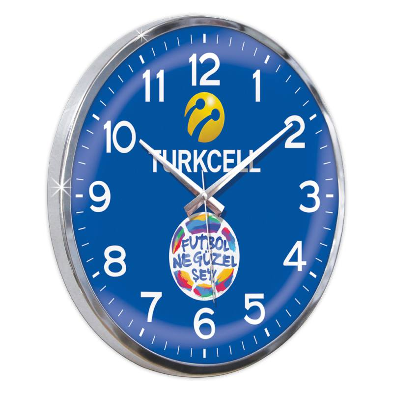 Curved Glass Round Wall Clock (35 cm)