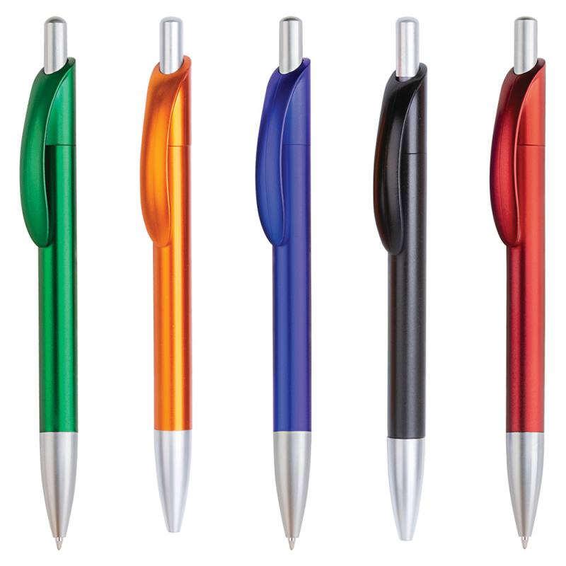 Dynamic Metallic Plastic Ballpoint Pen