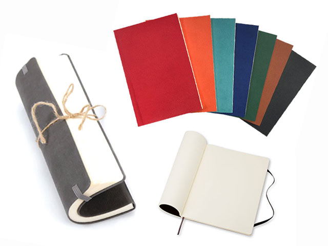 Flexible Thick Leather Notebook (9x14 cm)