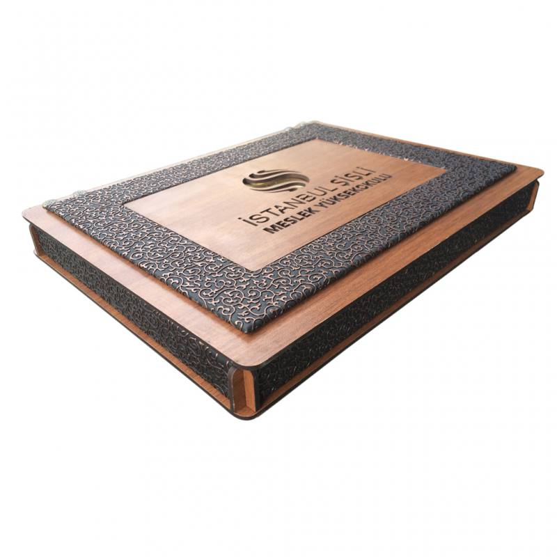 Gift Leather Engraved Wooden Gift Box