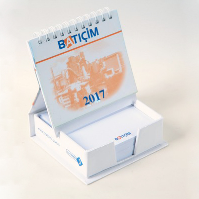 Hard Cover Cube Notepad Mini Calendar Set