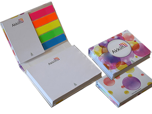 Hard Cover Self Adhesive Note Pad Set