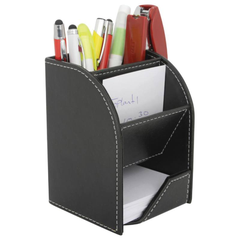 Imitation Leather Pen Holder with Memo notes and Bussiness card Holder