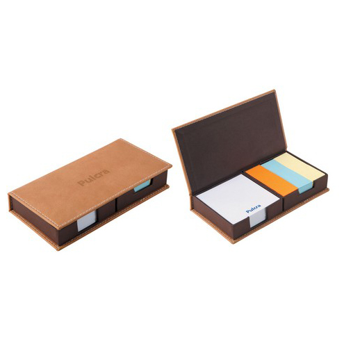 Leather Covered Twin Desktop Notepad