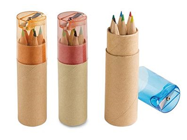 Color Pencil Set With Sharpener