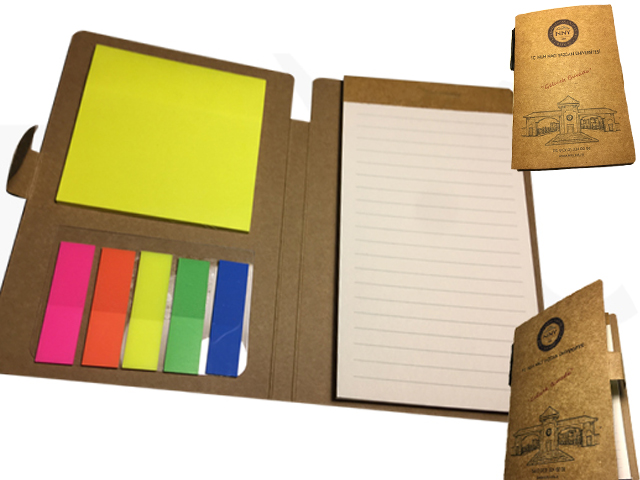 Pocket Type Notepad with Self Adhesive Memo Pad and Seperator