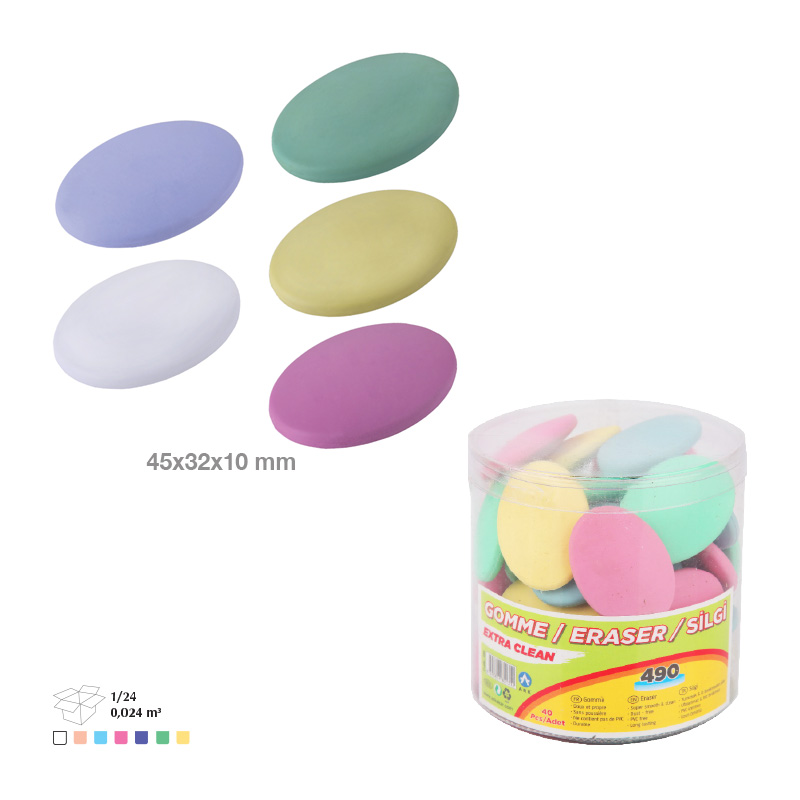 Promotional Mixed Color Eraser