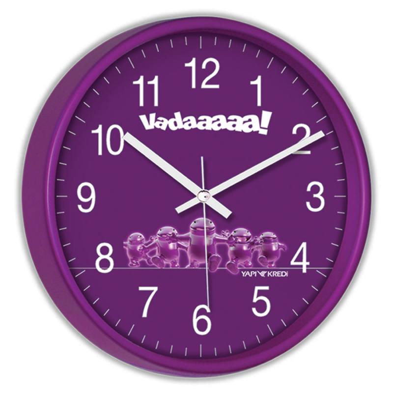 Decorative, Acrylic Painted Clock
