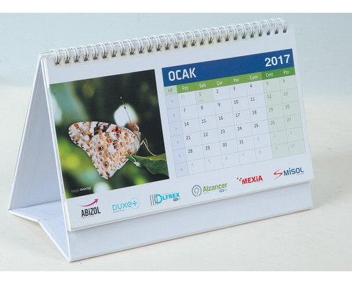 Rigid Pyramid Calendar Desk Calendar with Self Adhesive Note Paper
