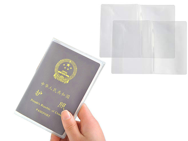 Transparent Silicone Passport Cover