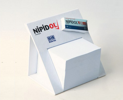 Triangle Stand Cube Notepad