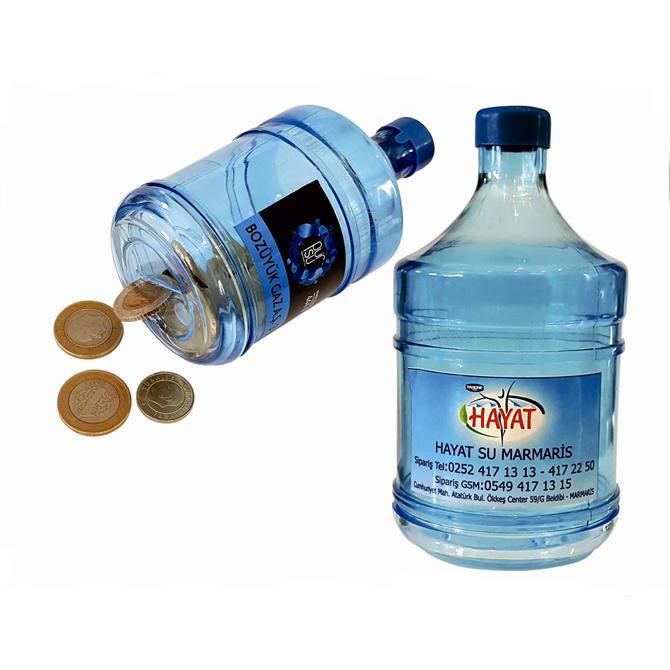 Water Bottle Shape Coin Box