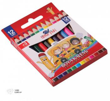 12 Colors Short Dry Paint Set
