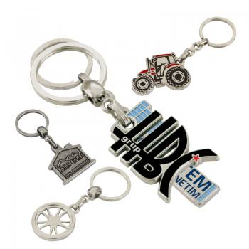 3D Metal Keychain with Colored Enamel
