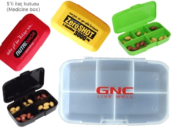 5 Compartment Drug Box