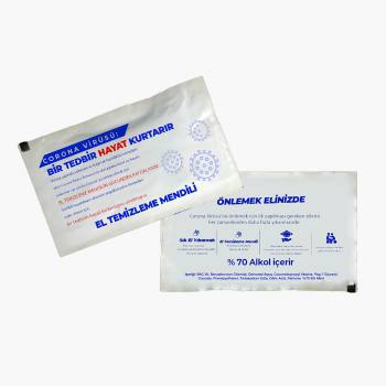 Alcohol Containing Hand Cleaning Wipes (6 x 8 cm)