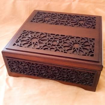 CNC Cut Patterned Raw Wooden Box