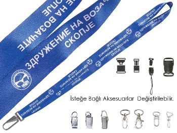Collar Lanyard Satin Sublimation