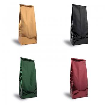 Colorful Side Gusseted Aluminum Bag (Black, Gold, Claret Red, Green, White)