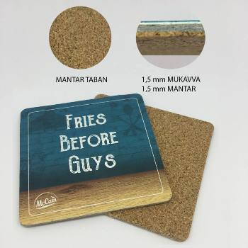 Cork Based Square Shaped Coasters
