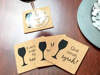 Direct Printed Square Shaped Cork Coasters