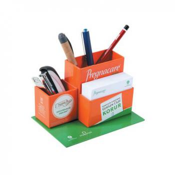 PBK-1515 - Cube Notepad with Pencil Holder and Paperclip Box