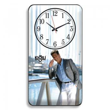 Curved Glass Rectangular Wall Clock