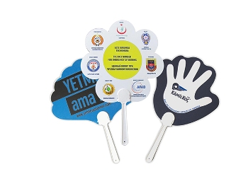 Custom Cut PVC Hand Fan