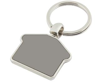 ANH-7150 - House Shaped Metal Keychain