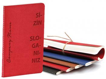 Tailor Stitched Flexible Thermo Leather Notebook (9x14cm)