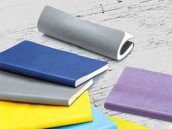 Flexible Thermo Leather Cover Notebook (13x21 cm)