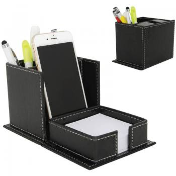 Imitation Leather Pen Holder with Mobil Phone Holder