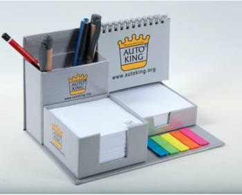 Table Top Calendar Set with Pencil Case and Cube Notepad
