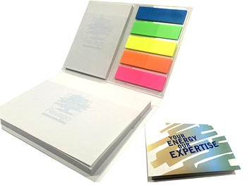 Self-Adhesive Notepad Set with Cardboard Cover