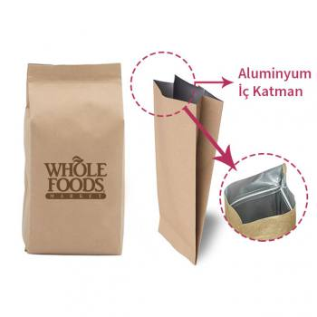 Medium Kraft Aluminum Bag