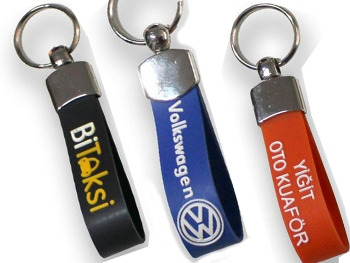 Metal Buckle Rubber Keychain