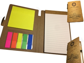 PST-1015 - Pocket Type Notepad with Self Adhesive Memo Pad and Seperator