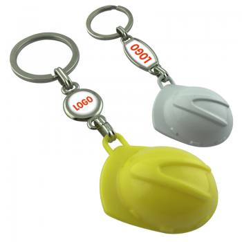 Promotional Domed Label Helmet Keychain