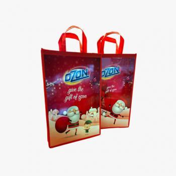 Promotional Interlining-Cardboard Bag (31x33x9 cm)