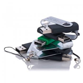 Promotional Rotary Metal Cover USB Memory (8 GB)