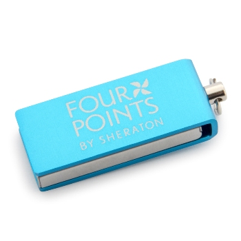 Rotary Metal Cover Mini USB Memory (8 GB)