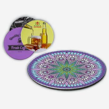 Bottom Rubber Base Cloth Coaster