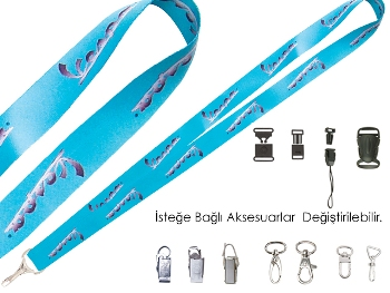 Satin Fabric Lanyard 20 mm