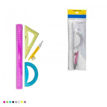 Set of 4 Rulers Plastic Rulers