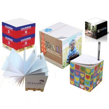 Side Printed Notepads (7 x 7 x 7 cm)