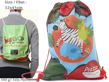 Shirred Nonwoven Backpack (32 x 45 cm)